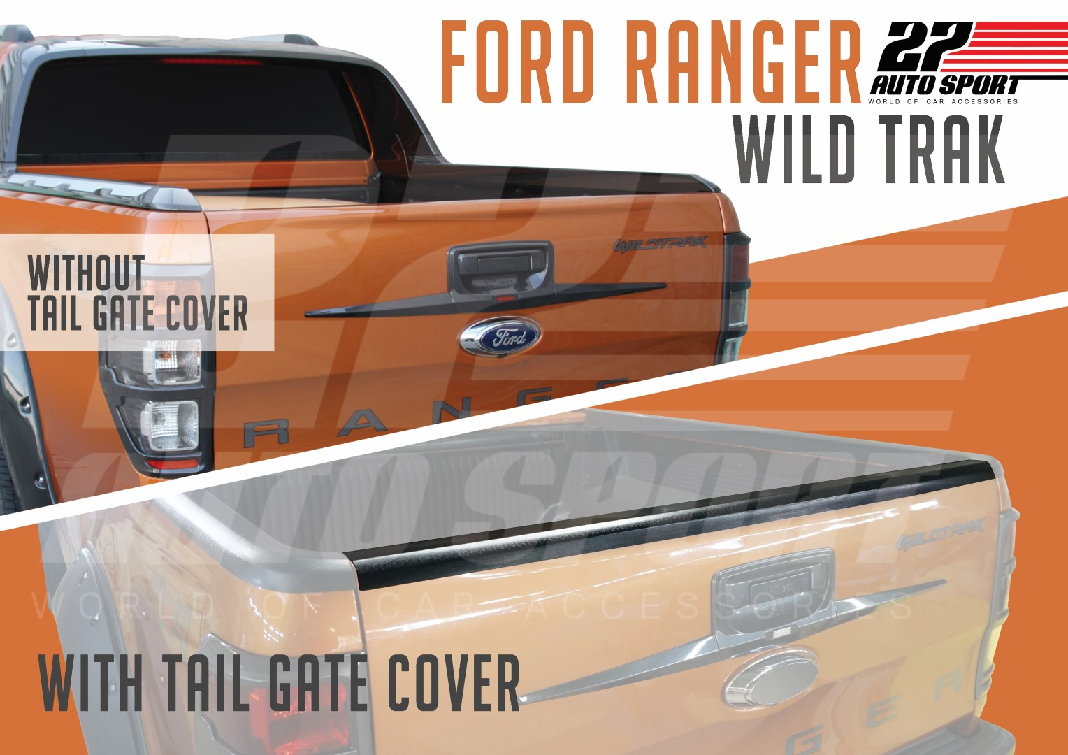 tail gate cover ranger 27